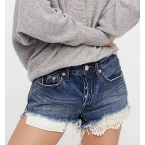 FREE PEOPLE WE THE FREE daisy chain lace shorts